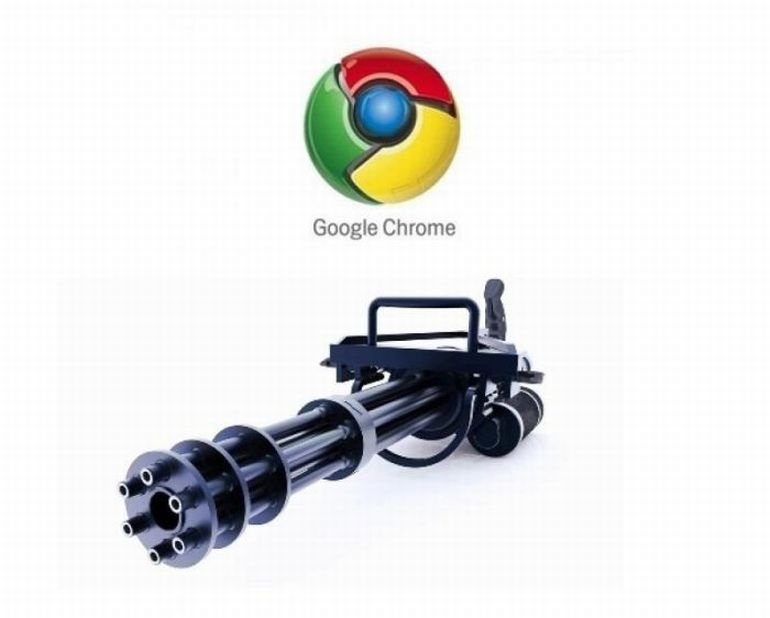 Станковый пулемет Google Chrome