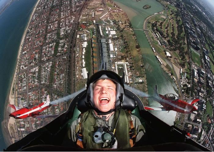 летчик в небе: какой экстрим