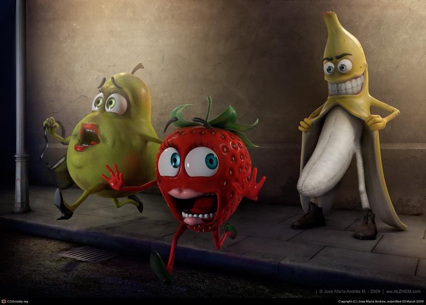 Показал свой банан