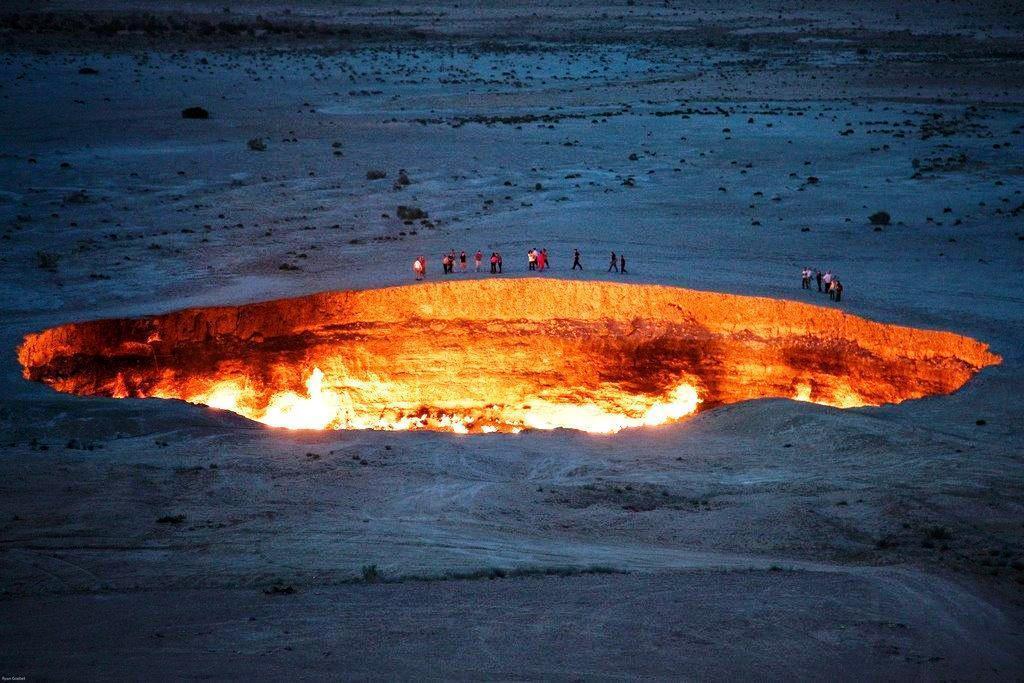 Газовый кратер Дарваз, Туркменистан