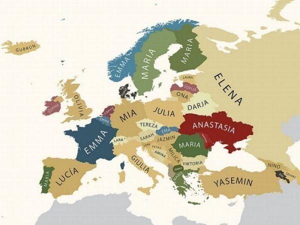 Популярные женские имена в странах Европы