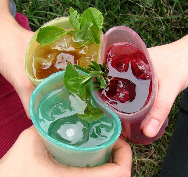 3 стакана для жевания